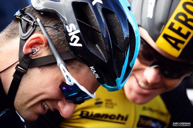 Wout Poels (Team Sky) and Steven Kruijswijk (Lotto NL-Jumbo)