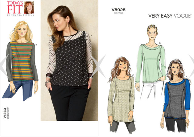 two Vogue knit tops