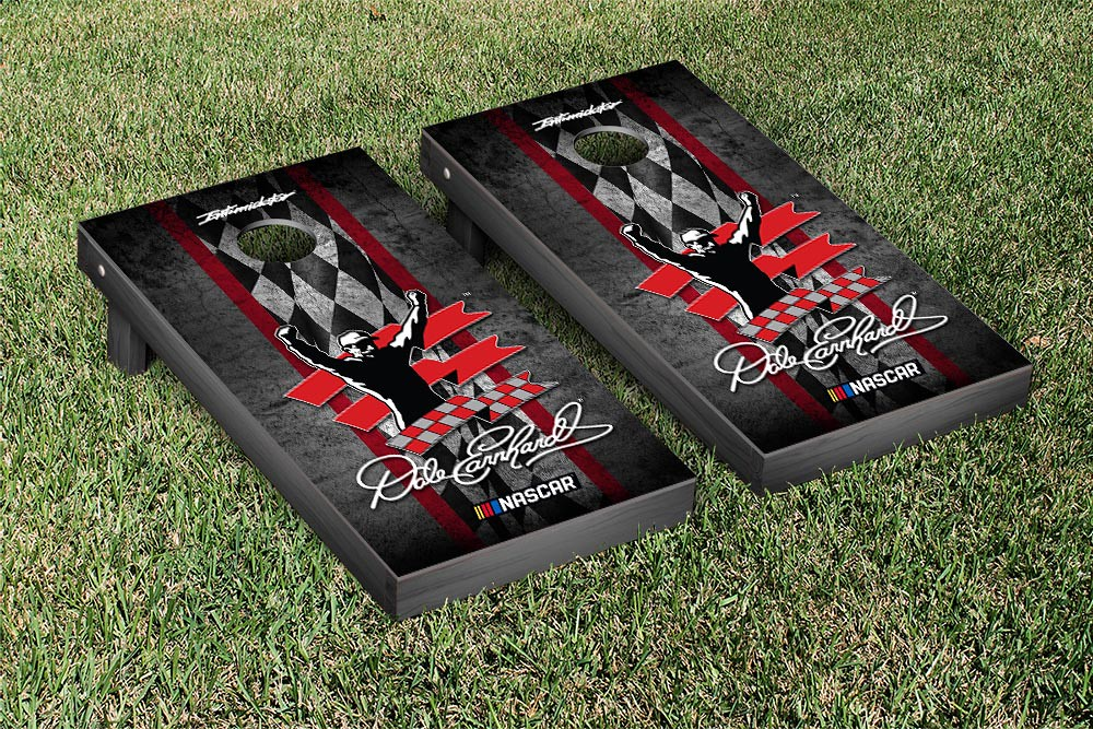 DALE EARNHARDT SR CORNHOLE GAME SET VINTAGE STRIPE VERSION (1)
