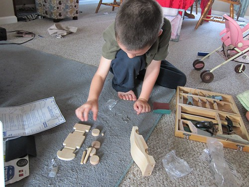Using Woodworking Skills to Build a Car (Photo from Barefoot in Suburbia)