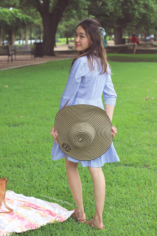 Monogram Marleylilly narrow stripe hat