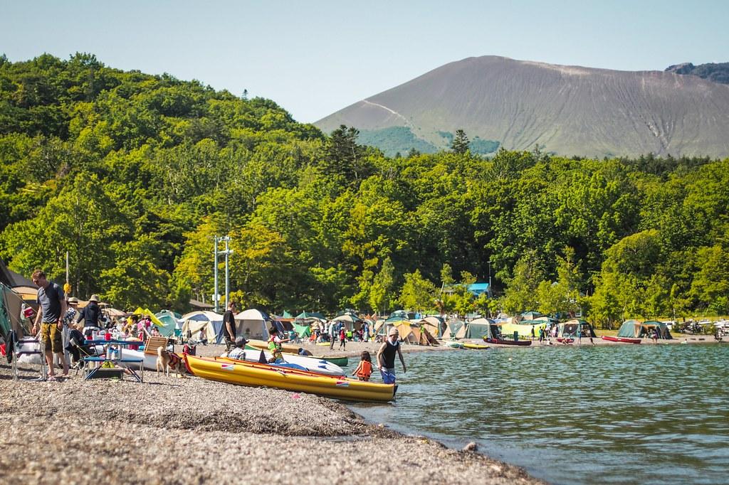 Morappu Campground, Hokkaido, Japan (Lake Shikotsu)