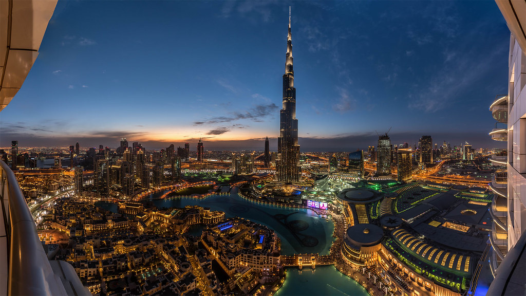 Burj Khalifa UAE Sunset View Dubai Sky Tower Wallpaper