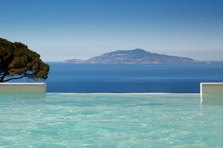 Penthouse Acropolis Suite private pool at the Capri Palace Hotel