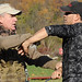 Lawrence Garcia (right) teaches a military edged weapons defense course.