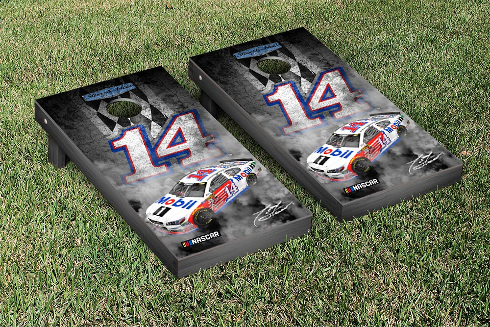 TONY STEWART #14 CORNHOLE GAME SET PIT ROW VERSION (1)
