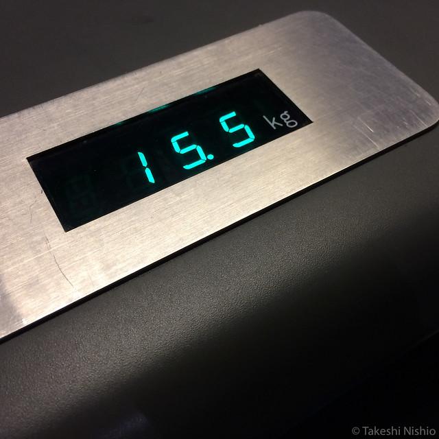 15.5kg at outward
