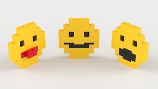 Lego Emoji Render by Steven Reid