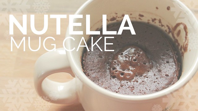 Recipe Test of Nutella Cake in a Mug... My First Mug Cake!