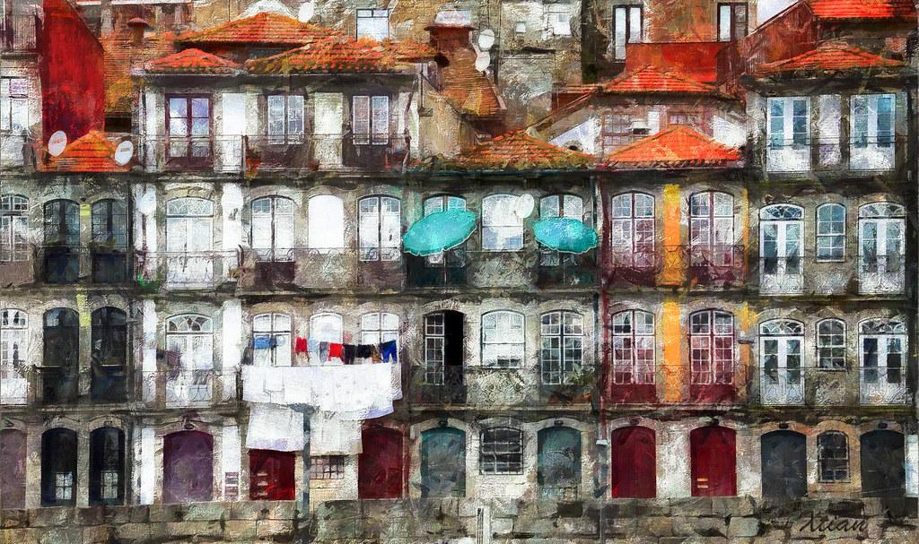 berge du douro porto 3 peinture digitale d 39 apr s une pho flickr. Black Bedroom Furniture Sets. Home Design Ideas