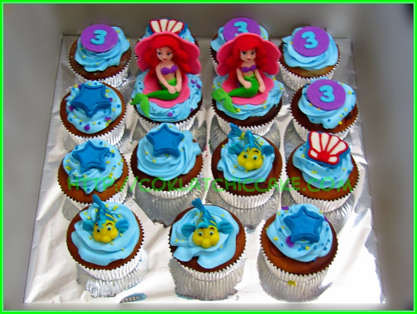 Cupcake Little Mermaid