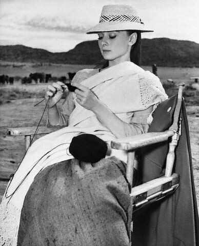 Audrey Hepburn Knitting | by Vintage_Knitting