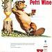 Petri Wine Beaver Ad 1948