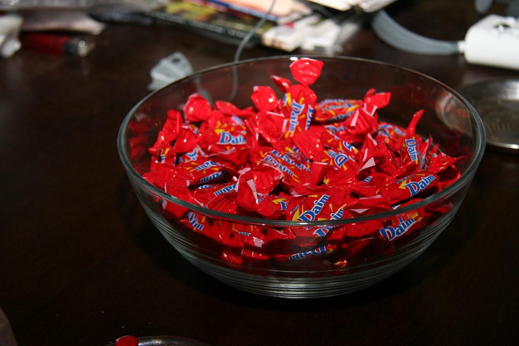 bowl of daim tasty toffee candy i got at ikea robert occhialini flickr. Black Bedroom Furniture Sets. Home Design Ideas