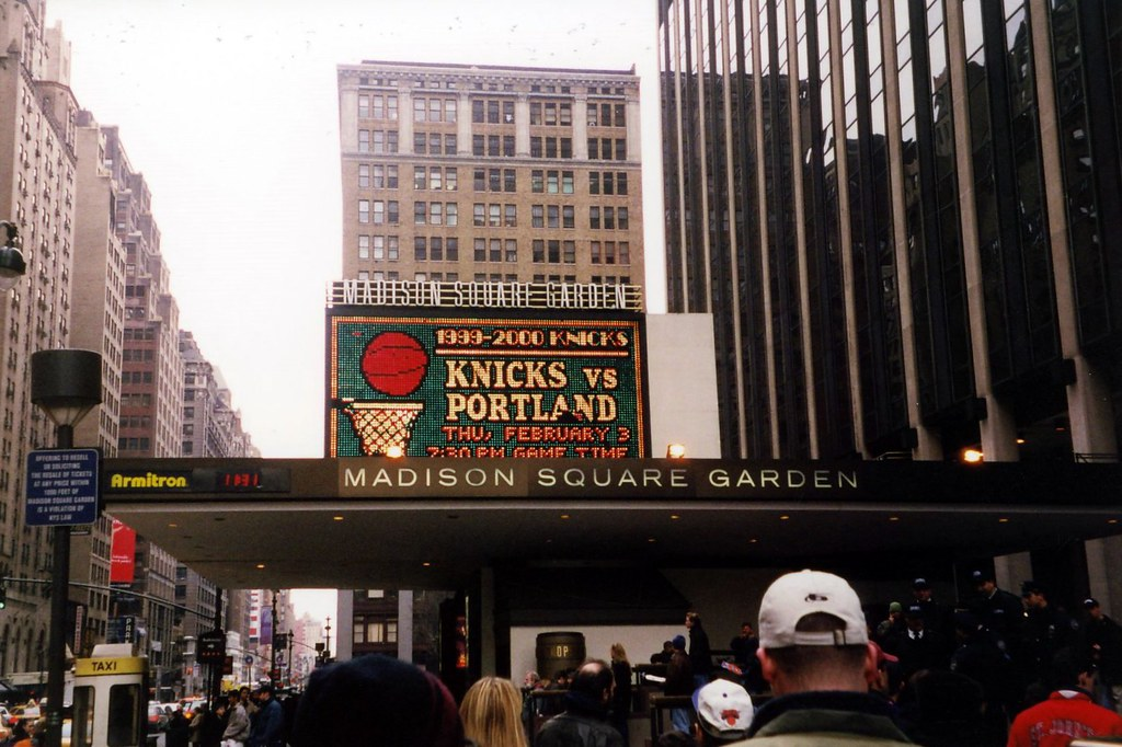 Nyc Madison Square Garden Marquee Madison Square