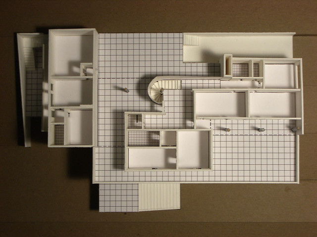Model Of Mies Van Der Rohe S Tugendhat House Upper Floor