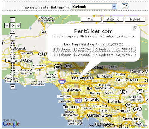 Google Rent: RentSlicer Google Mashup Map - Locate Rental Housing