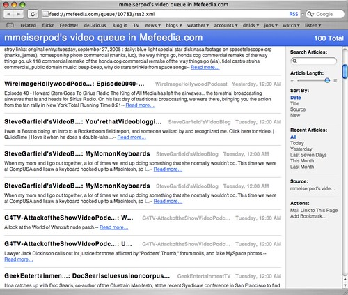 MefeediaPersonal RSS Feeds are starting to look o' so pret