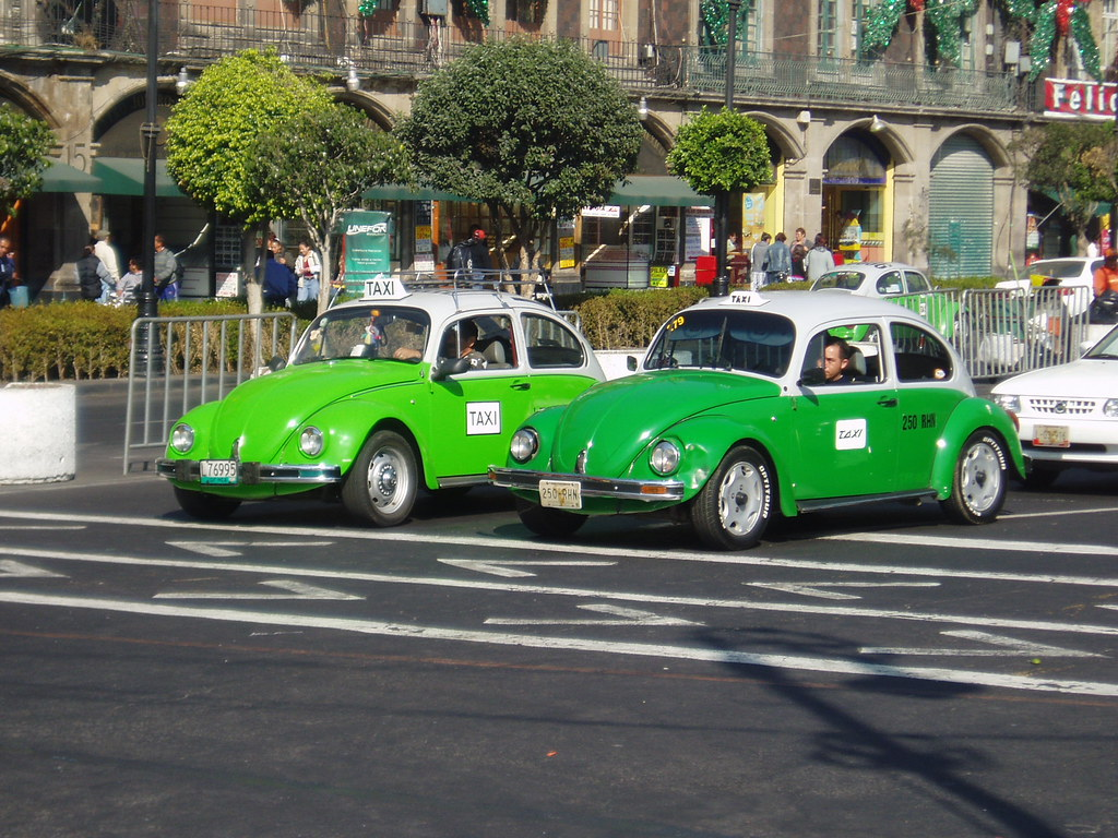 Steve White Vw >> Taxis in Mexico City | Ubiquitous green and white VW Beetle … | Flickr
