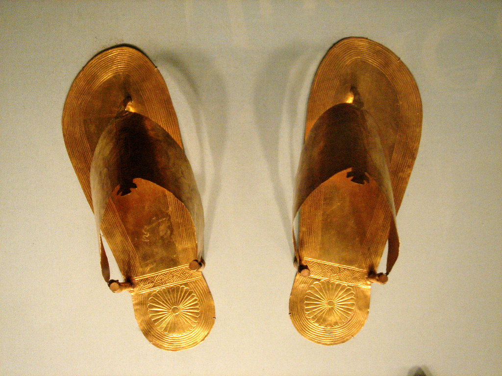 Image result for egyptian gold sandals