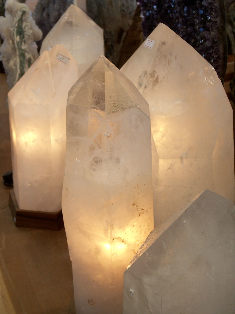 Quartz Lamps, Glow | These lamps are made from giant ...