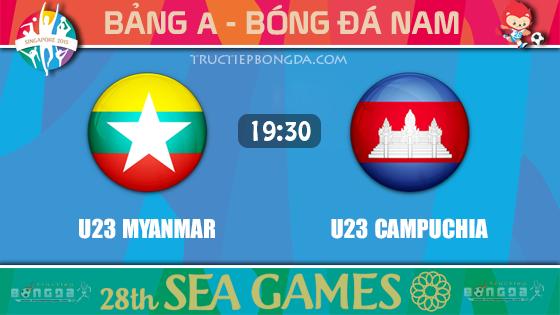 U23 Myanmar vs U23 Campuchia