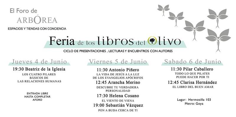 libros del Olivo Feria5 de junio 2015  invitacioìn1