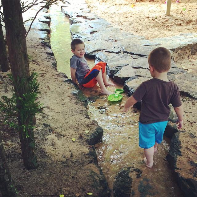 A #latergram from the #park the other day. Fun times playing in the creek at Web Bridge Park! #alpharetta #fultonga #atl #atlanta #igersga #igersatl #igersatlanta #igersgeorgia #brothers #fun #outdoors #parks #georgia #myboys #boymom #webbbridgepark #disc