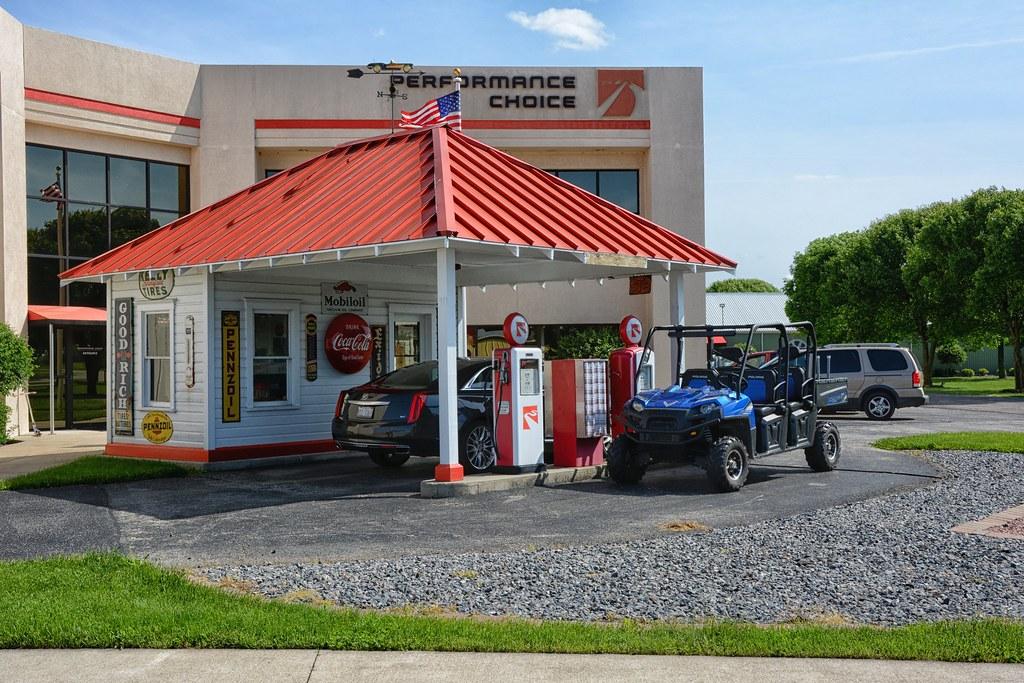 Restored 1910 Gas Station