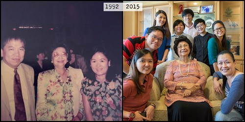 My parents and I meet Tun Dr Siti Hasmah in different times