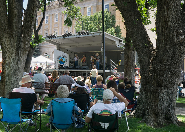 Stage Performance at the Prescott Bluegrass Festival