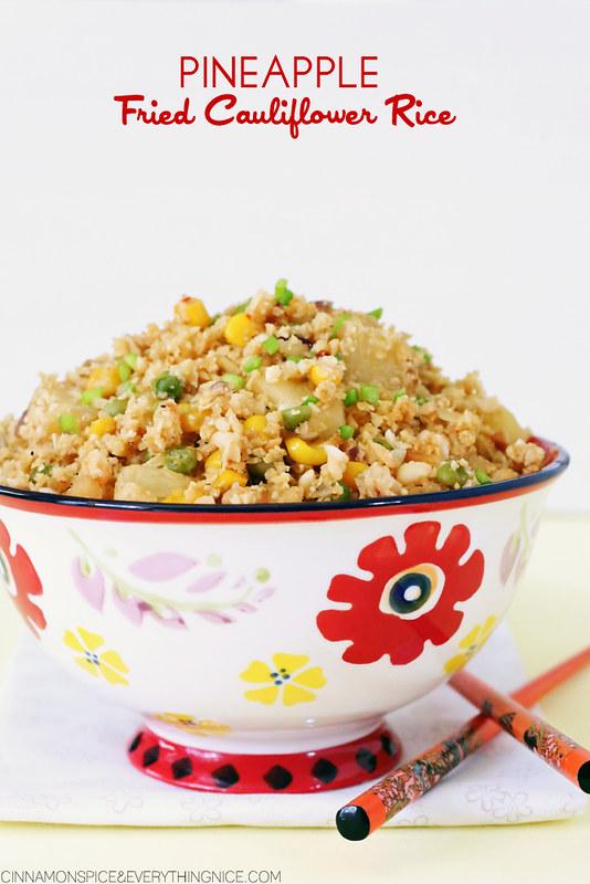 Teriyaki Chicken with Pineapple Fried Cauliflower Rice