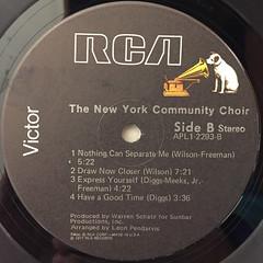 THE NEW YORK COMMUNITY CHOIR:THE NEW YORK COMMUNITY CHOIR(LABEL SIDE-B)