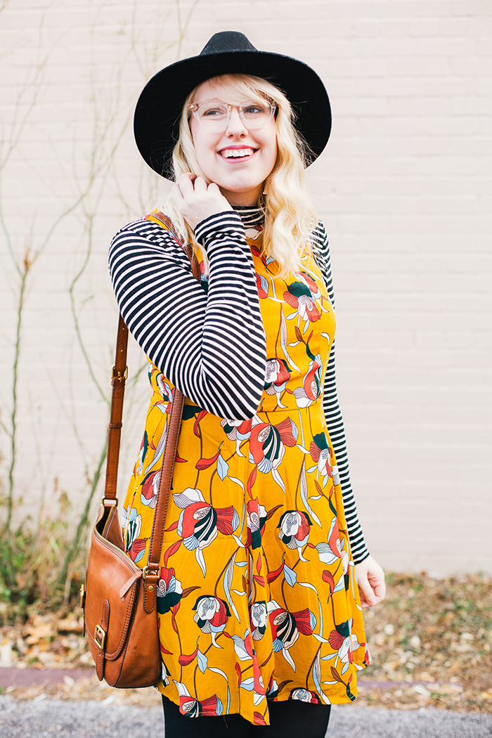 austin style blog tissue turtleneck layered modcloth dress2