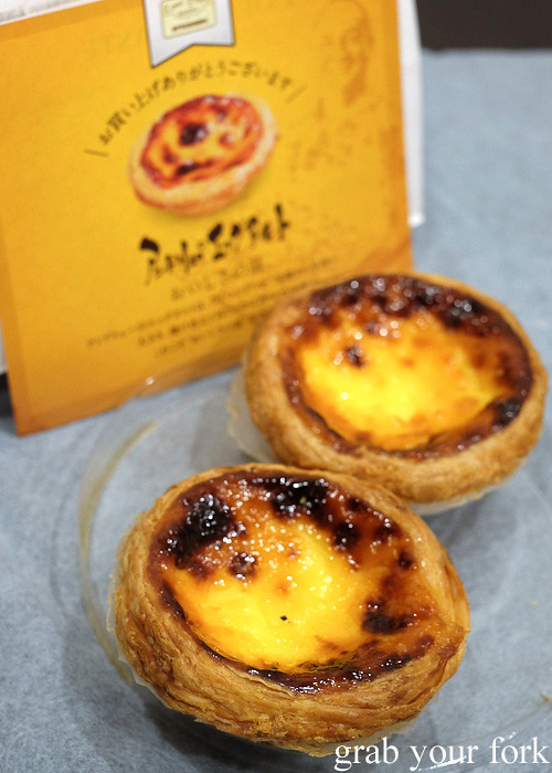 Egg tarts at Lord Stow's Bakery in Osaka, Japan