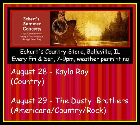 Eckert's Summer Concerts 8-28, 8-29-15