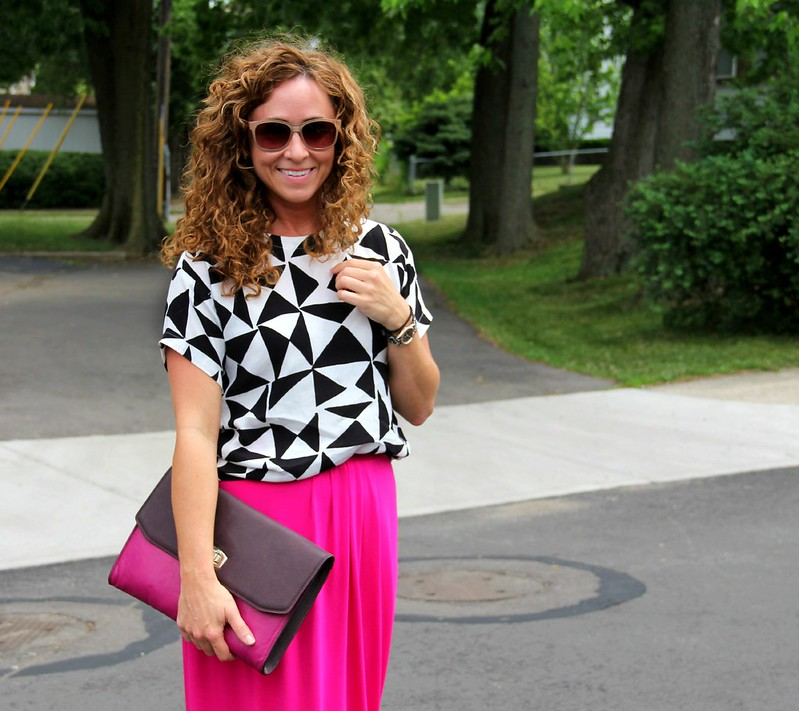 modest maxi skirt outfit for summer via kristinaj blog