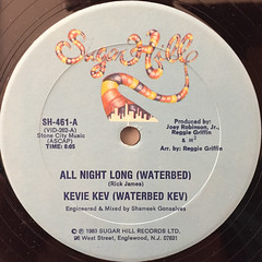 KEVIE KEV(WATERBED KEV):ALL NIGHT LONG(WATERBED)(LABEL SIDE-A)