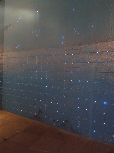 Sparkly Lights in the Underpass Near Waterloo Station