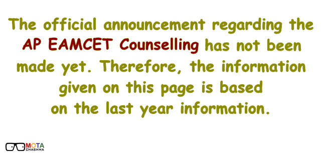 important information on AP EAMCET counselling