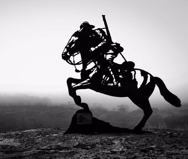Anzac light horse memorial statue kondinin western australia black and white by sapearson91