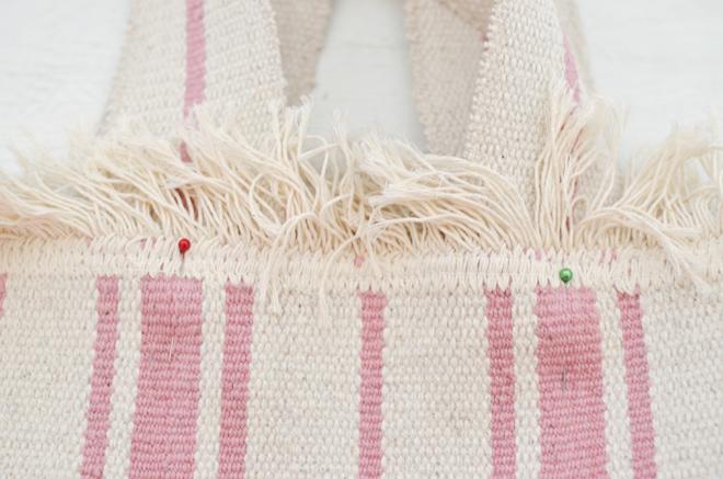 fringe rug bag