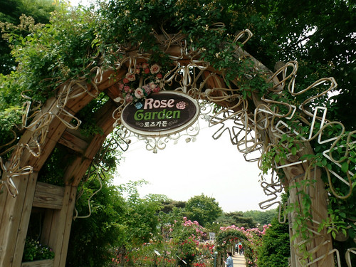 Entrance To Portland Rose Gardens : Rose garden entrance festival crystal