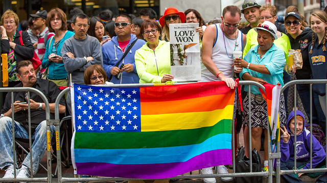 Love Won. Pride Flag. SF Pride 2015. Photo by Thomas Hawk via Flickr (creative commons)