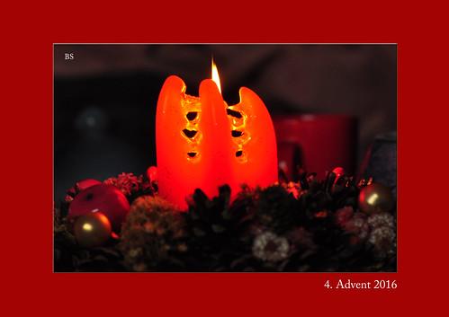 Adventskranz Advent Kerze Foto: Brigitte Stolle, Dezember 2016