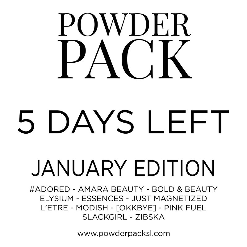 Powder Pack January | 5 days countdown
