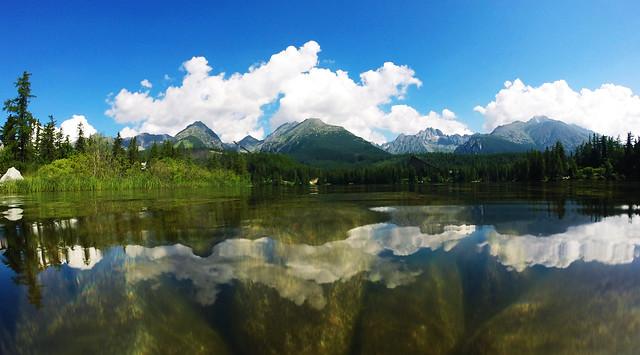 Alpine lakes: Štrbské pleso, High Tatras, Slovakia