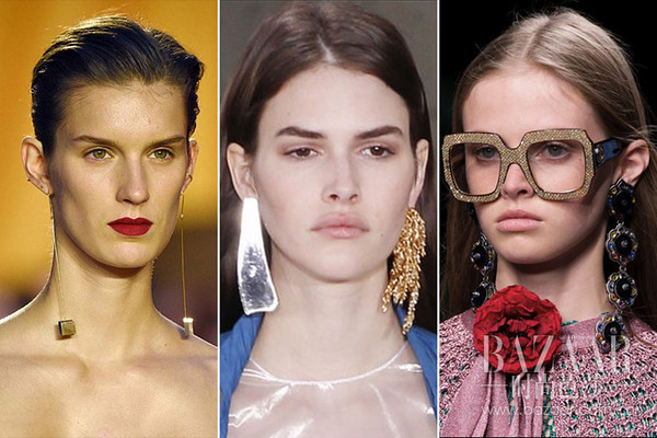 From left to right: c e line, Loewe, Gucci.
