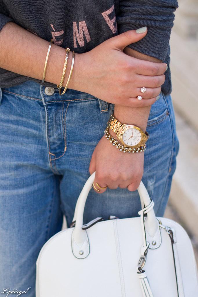 creme de la creme sweatshirt, boyfriend jeans, silver pumps-5.jpg