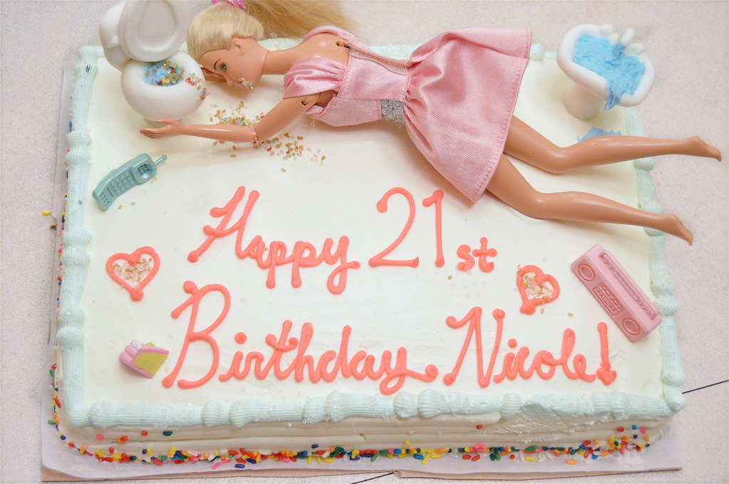 drunk barbie birthday cake